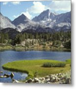A Sierra Mountain Lake In Summer Metal Print