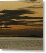 A Silhouetted Russian Submarine Metal Print