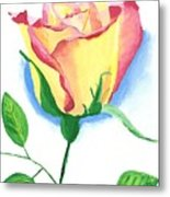 A Single Rose Metal Print