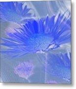 A Slanting Blue Wind  Metal Print