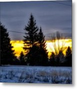 A Sleepy Morning Sunrise Metal Print