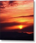 A Slow Sunset      Metal Print