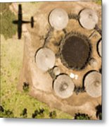 A Small Boma And Family Compound Metal Print