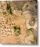A Small Rice Village In The Central Metal Print