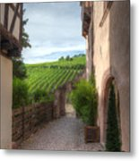 A  Small Side Street In Riquewihr Metal Print