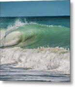 A Small Tube Wave In Atlantic Ocean Metal Print