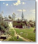 A Small Yard In Moscow Metal Print