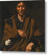 A Smiling Beggar Metal Print
