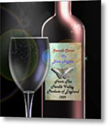 A Smooth Claret On Blue Nights Metal Print