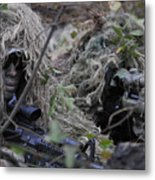 A Sniper Team Spotter And Shooter Metal Print