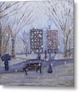 A Snowy Afternoon In The Park Metal Print