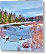 A Snowy Moose River Metal Print