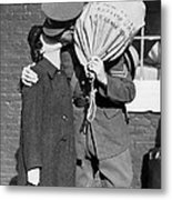 A Soldier's Goodby Kiss Metal Print