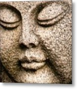A Solid Face Metal Print