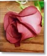 A Special Rose Metal Print