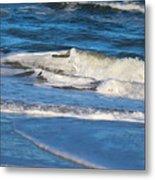 A Splash In The Surf Metal Print
