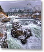 A Spokane Falls Winter Metal Print