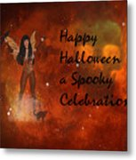 A Spooky, Space Halloween Card Metal Print