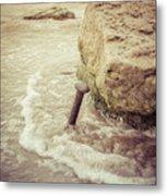 A Stake In The Beach Metal Print