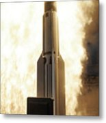 A Standard Missile 3 Is Launched Metal Print