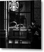 A Starbucks Respite In Downtown San Jose Metal Print