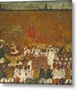 A State Procession Of Raja Tulsaji Metal Print