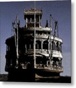 A Steamboat Coming Metal Print