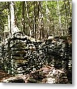 A Stone Structure In The Berkshire Hills Metal Print