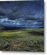 A Storm Builds Up Over A Colorado Metal Print