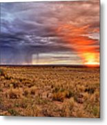 A Stormy New Mexico Sunset - Storm - Landscape Metal Print