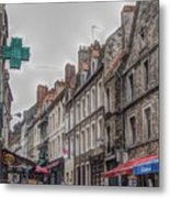A Street In Boulogne Metal Print
