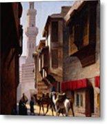 A Street In Cairo Metal Print