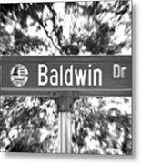 Ba - A Street Sign Named Baldwin Metal Print