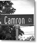 Ca - A Street Sign Named Camron Metal Print