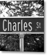 Ch - A Street Sign Named Charles Metal Print