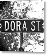 Do - A Street Sign Named Dora Metal Print