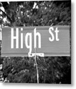 Hi - A Street Sign Named High Metal Print