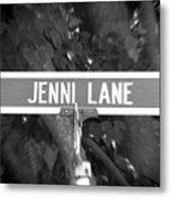 Je - A Street Sign Named Jenni Metal Print