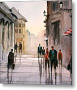 A Stroll In Italy Metal Print