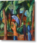 A Stroll In The Park Metal Print