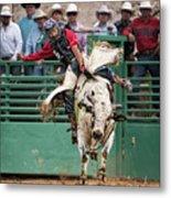 A Strong Bull Ride Metal Print