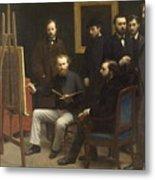 A Studio At Les Batignolles 1870 Metal Print