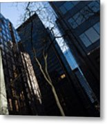 A Study In Contrasts - Downtown Toronto Miniature Park - Left Metal Print