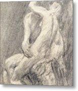 A Study Of Rodin's Kiss In His Studio Metal Print