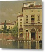 A Sultry Day In Venice Metal Print
