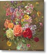 A Summer Floral Arrangement Metal Print