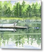 A Summer Pond Metal Print