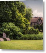 A Summer Sitting Place Metal Print