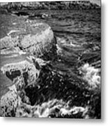 A Summer's Day At Nubble Light, York, Maine  -67969-bw Metal Print