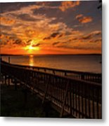 A Sunset At Spanish Wells Metal Print
